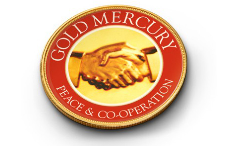 Gold Mercury Peace & Cooperation Symbol