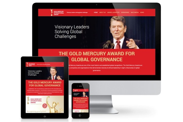 Gold Mercury Award Launches a New Responsive Mobile Site